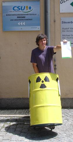 Atommüll: CSU Passau verweigert Annahme