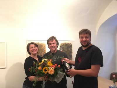 Zufrieden mit dem Wahlergebnis (v.l.): Kreisvorsitzende Maria Kalin, Boris Burkert und Kreisvorsitzender Johannes Hauck. - Foto: privat