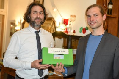 Michael Buschheuer, Gründer von Sea Eye e. V. aus Regensburg, und Toni Schuberl