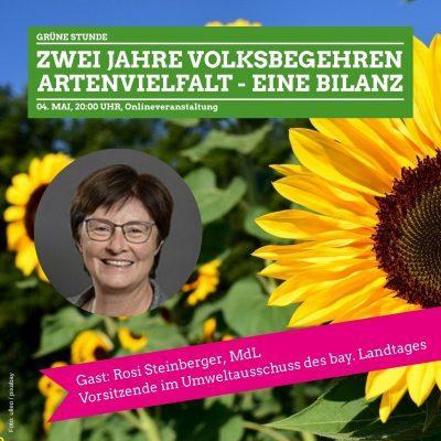 Grüne Stunde Grüne Passau: Bilanz Volksbegehren Artenvielfalt