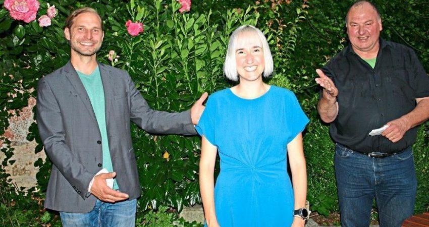 In Berlin haben wollen Stefanie Auer MdL Toni Schuberl (l.) und MdB Erhard Grundl. -Foto: Polz